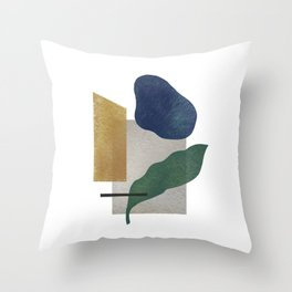 Abstract organic forms Throw Pillow