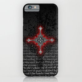 Noble House II CRUSADER RED / Grungy heraldry design iPhone Case