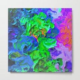 Swirled Abstract Metal Print