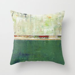 Limerick Irish Ireland Abstract Green Modern Art Landscape Throw Pillow
