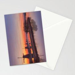 I - Traditional windmills at sunrise, Kinderdijk, The Netherlands Stationery Cards