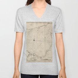 Vintage Map Print - 1803 Map of the Sea of Azov & Crimea Unisex V-Neck