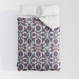 Vintage Blue Ceramic Tiles Wall Decoration Comforters