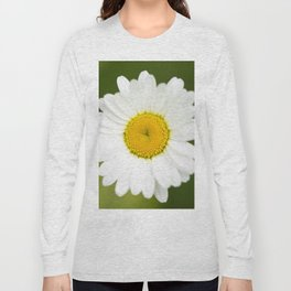 Beautiful Daisy Natural Green Background #decor #society6 #buyart Long Sleeve T-shirt