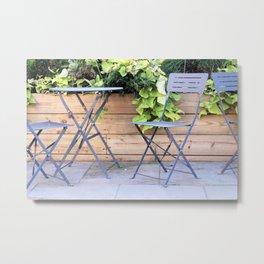 Cafe Seating Metal Print