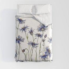 Blue Cornflowers, Illustration Comforters