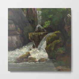 "Gustave Courbet ""Cliffs and waterfalls (Falaises et cascades)"" Metal Print"