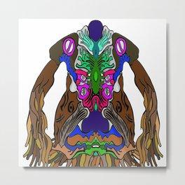 CreaturefAceSureel Metal Print