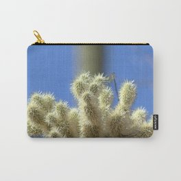Watercolor Cactus, Teddy Bear Cholla 02, Ventana Canyon, Arizona, Wasn't Very Fuzzy, Was He? Carry-All Pouch