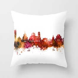 Sofia Bulgaria Skyline Throw Pillow