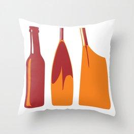 Rowing Oars Evolution in orange Throw Pillow