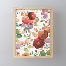 Vintage Florals Framed Mini Art Print