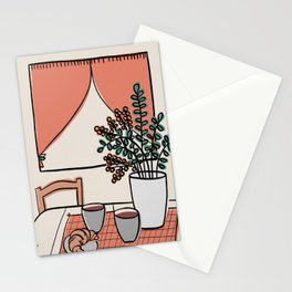 Coffee & Croissant Stationery Cards