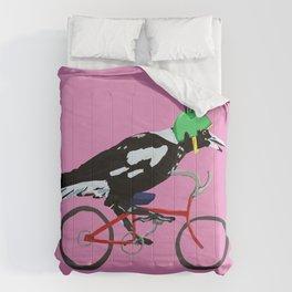 Magpie Bike Swoop (in Pink) Comforters