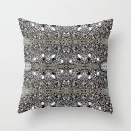 girly chic glitter sparkle rhinestone silver crystal Throw Pillow
