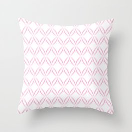 Geometric Oval Pattern in Blush Pink Throw Pillow