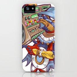 Tezcatlipoca Old School Hip Hop iPhone Case