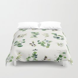 Eucalyptus and Olive Pattern 2  Duvet Cover
