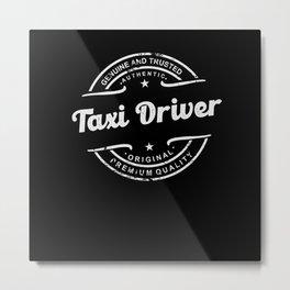 Best Taxi Driver retro vintage distressed logo Metal Print