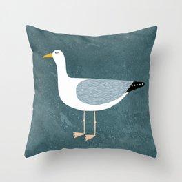 Seagull Standing Throw Pillow