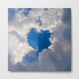 Eclipse Day Heart 2017 Metal Print