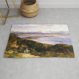 San Diego Bay From Point Loma 1907 By Thomas Hill | Reproduction Rug