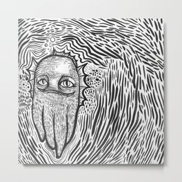 swamp thing squid cat Metal Print