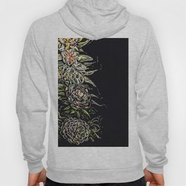 Oil pastel flowers Hoody