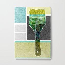 Paint Brush Metal Print