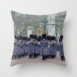 Band Plays During Changing of the Guard at Buckingham Palace London England Throw Pillow