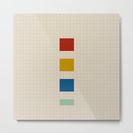 four elements || tweed & primary colors Metal Print
