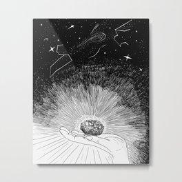Mystic amethyst Metal Print