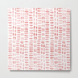 Abstract rectangles - dusty pink Metal Print