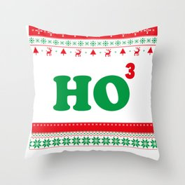 HO HO HO Merry Christmas, Maths Christmas Throw Pillow