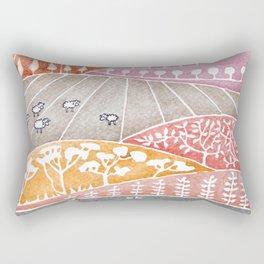 Tatry mountains, sheep watercolor landscape nature Rectangular Pillow