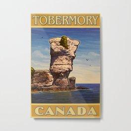 Tobermory Canada Travel Poster Metal Print