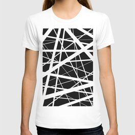 Entrapment - Black and white Abstract T-shirt