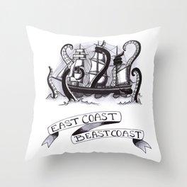 East Coast Beast Coast Throw Pillow