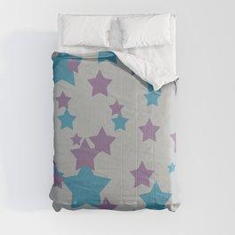 Stars light purple grey Design Comforters