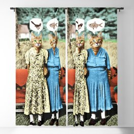 Two Cool Kitties: What's for Lunch? Blackout Curtain