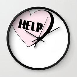 Help Candy Heart Wall Clock