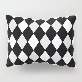 Harlequin Black and White and Gray Pillow Sham