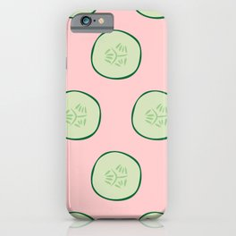 Bright Refreshing Summer Pink Cucumber Pattern iPhone Case