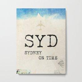 SYD Sydney ON Time Metal Print