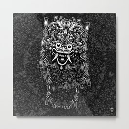 Bali Mask Metal Print