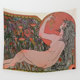 Silvers On Her Fingers   Wall Tapestry