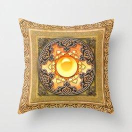 Mandala Solarium Throw Pillow