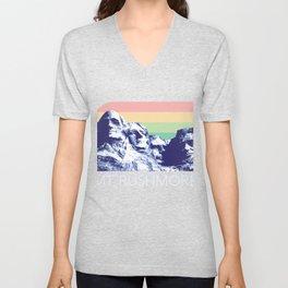 Mount Rushmore Shirt Black Hills South Dakota Retro National Park USA President Monument  Unisex V-Neck