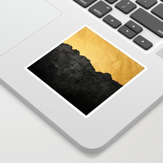 Black Grunge & Gold texture by mydream