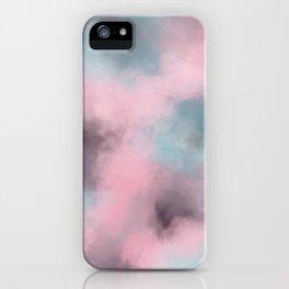 Pink, Grey / Gray & Aqua Cloudscape iPhone Case